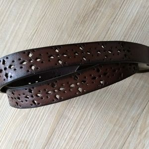Accessories - Leather Belt Size M Brown